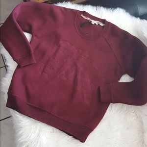 Auth Burberry neoprene crewneck sweater sz m